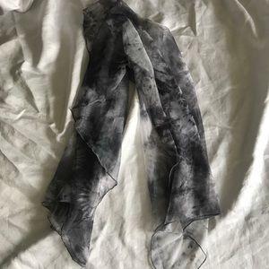 Xhileration tie dye Grey scarf
